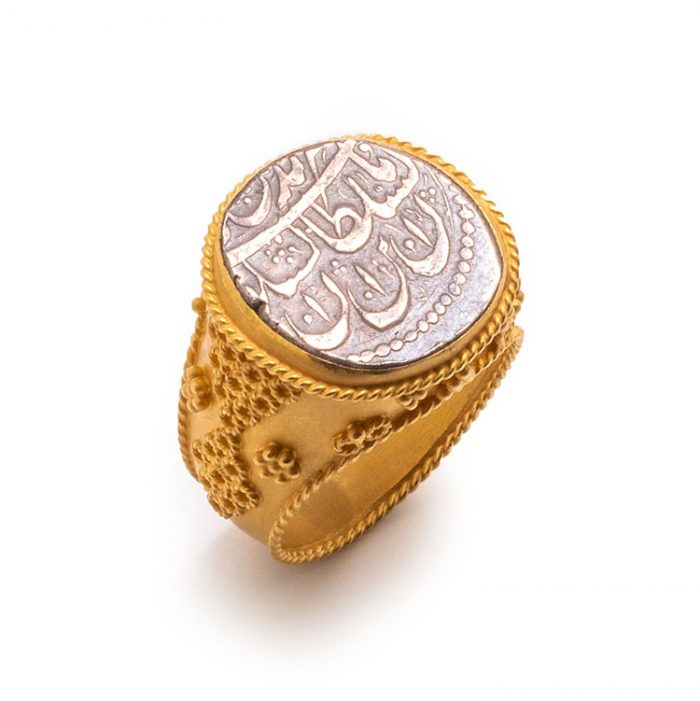 انگشتر گوارسه ای سکه کد R1025