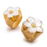 انگشتر گل صدف کد R561455