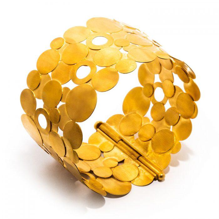 دستبند پهن پولک کد B616