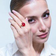 انگشتر عقیق قرمز کد R1058